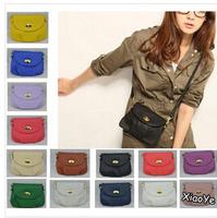 14 Colors New 2014 Leather Women's Messenger Bag Women Handbag Satchel Shoulder Cross Body Bag Purse Tote Bolsas Free Shipping