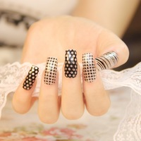 $2 new fashion 19 designs black silver for choose 1pack nails art stickers DIY decorations foils wraps wholesale nail tools