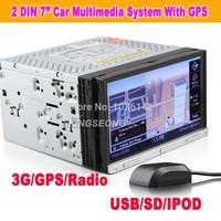 "7"" HD Autoradio Car DVD USB SD Player GPS Sat Nav iPod TV SWC BT RMVB KS7050"