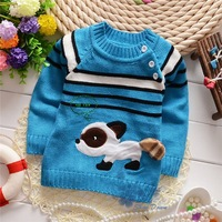 Autumn and winter baby boys Stripes oblique buckle cartoon pullovers sweaters,retail,V1170B