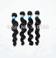 6A Queen Hair 3/4pcs Lot Loose Wave Brazilian Virgin Hair Extensions human hair Unprocessed Wholesale Natural Color 1B free ship