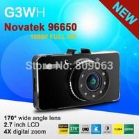 "2014 New G3WH Novatek 96650 Car Video Recorder Dash Cam Full HD 1080P 30FPS+2.7"" LCD + Night Vision+H.264+G-Sensor+170 Degree"