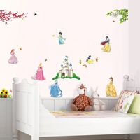 High quality! princess girl DIY Removable Art Vinyl Wall Stickers Decor Mural Decal Free shipping DF5102