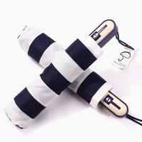 High quality foreign trade parasols navy stripe automatic folding umbrellas