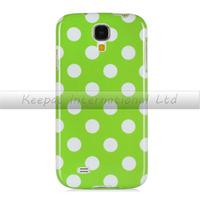 *2014 New Cute Rubber Skin Slim Polka Dot Case Cover Skin for Samsung Galaxy S4 SIV I9500 / I9505 / SGH-i337
