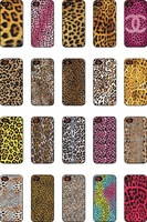 20pcs/lot  leopard  hard back phone case for apple iphone 5 5s protective cases cover free shipping