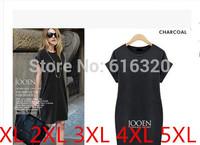 ONL1238 High Qaulity Plus Size Women Summer Dress Black Gray  Hin Thin Short Sleeve Casual Dress
