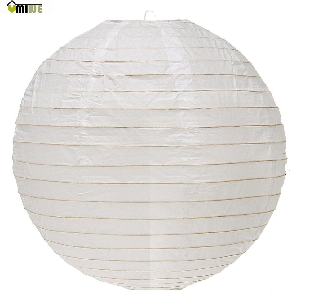 Umiwe Foldable Chinese Japanese Paper Lantern Lamp(8 Inch Diameter,White)(China (Mainland))