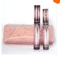 150sets=300PCS DHL Freeshipping Crystal Love encryption slim fiber+thick waterproof mascara pink set Fiber Mascara Grower Makeup