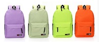 free shipping 2014 Hot popular solid color school student backpack school casual knapsack travel bags laptop backpacks rucksack
