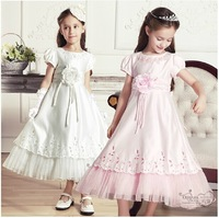 free shipping new pageant gowns kids for wedding dress flower girl dresses (size6-14year)