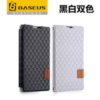 2014 NEW BASEUS Brand Diamond lozenge series Horizontal Flip leather case For huawei 3c holsteins mobile phone protective case