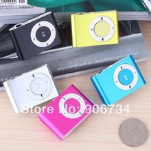 New Free Shipping Newest 5 Colors Vktech Mini USB MP3 Player mit Clip unterstutzt 1GB 2GB 4GB 8GB TF Card(China (Mainland))