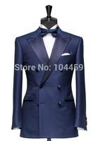 2014 new design navy blue suits business suits for men