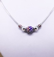 925 silver enamel necklace