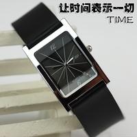 Luxury wrist watces for men quartz square watches black color men's business watches