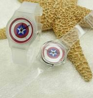 New 2014 Fashion Transparent Strap Watch Jelly Interesting Student Stely Korea High Quality Boy Kid Ultrathin Wristwatch ML0390