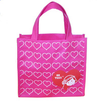Own logo printing on reusable shopping bag popular style at 2014