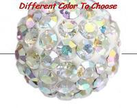 8mm Cz Crystal Disco Handmade mixed color rhinestone crystal Shamballa Beads bracelet spacer lot fashion bead Fashion new