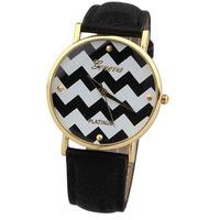 Super! 2014 New Superb Stripes Watch PU Leather Woman Man Quartz Wrist Watches Free Shipping&Wholesale Alipower Alipower