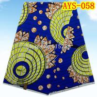 Hot sale African cotton block wax super prints wax fabric 6 yards