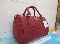 2013 Fashion PU Women Messenger Bag,Mango Plaid Bucket Women Leather Handbags+Free Shipping