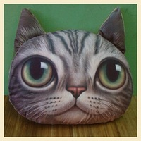 Nordic Chair Pillow Personality Car Cushion Cover Creative Handsome Cat shape Nap pillow Cover Cute seat cushion B7216