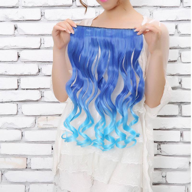 Blue Hair Extensions Clip 44