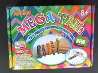 NEW DIY Mega  Mini Loom Kit Monster Tail Rubber Band Crafting Kit 600+ Latex Free Loom Bands 100PCS