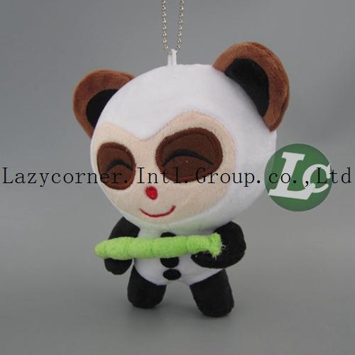 Free Shipping Cute Plush Panda Keychain toys Cute Panda Shape Plush Toy 14cm(China (Mainland))