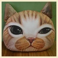 Nordic Chair Pillow Personality Car Cushion Cover Creative Handsome Cat shape Nap pillow Cover Cute seat cushion B7214