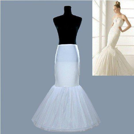 Hot sale Mermaid Petticoat/slip 1 Hoop Bone Elastic Wedding Dress Crinoline Trumpet(China (Mainland))
