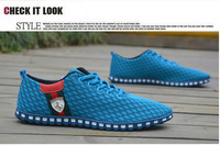 Summer men's casual shoes breathable mesh canvas shoes