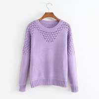Ms spring 2014 fashion collection leisure hollow-out sweater long-sleeved joker sweet Women fashion sweater F534