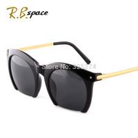 2014 round box fashion sunglasses female big frame glasses fashion vintage women men sunglasses star style Free Shipping