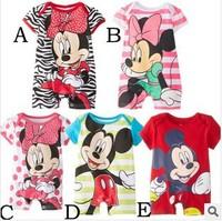 Promotion 5 style New Cotton Children Baby Boys Girls Sets clothes children Romper climbing clothes jumpsuit