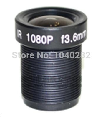2pcs/lot Board lens 3MP 3.6mm IR CCTV Lens HD camera lens M12 Millions pixels 1080p free shipping(China (Mainland))