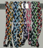 DHL 100pcs 3 Ropes Tornado Germanium Necklace triple Sports necklace Triple Braid Necklace 16''18'' 20'' 22'' 24''