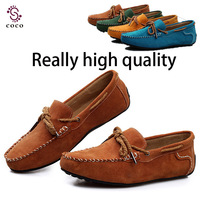 Handmade  Really high quality men flat shoes Genuine Leather men Loafers shoes Comfortable Breathable Casual Driving shoes