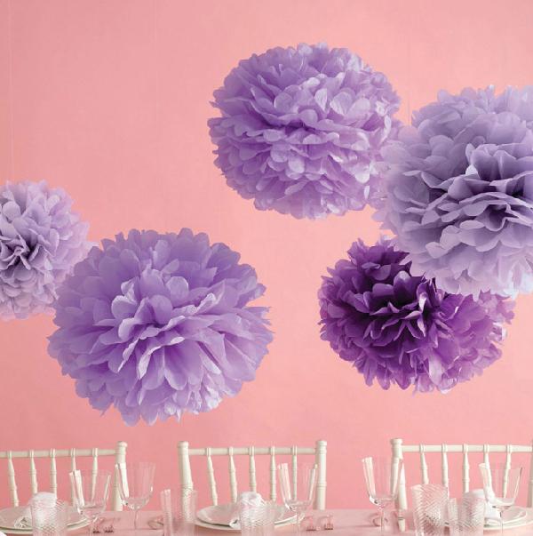 (12 pcs)Decorative Flowers Casamento Pompons Pompon Birthday 15cm Party New Year Christmas Hanging Pompom Wedding Decoration(China (Mainland))