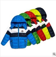 Hot sales!2014 new children's Coats Sport Boy's winter warm Hooded Outerwear &Coats 100%cotton-padded jackets freeshipping