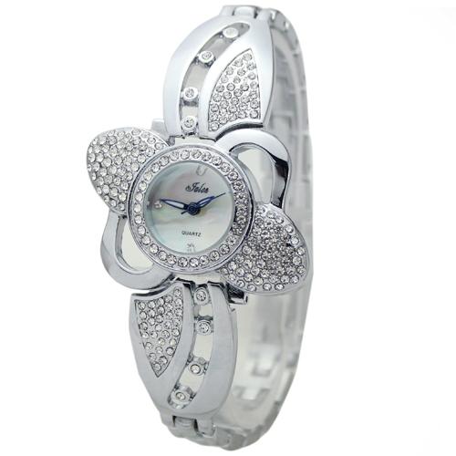Factory Price Silver Lovely Women s Luxury Dress Strap Diamonate Bracelet Jewelry Stainless Steel Wrist Watches