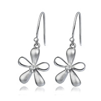 GNE0974 Exquisited 925 Sterling Silver Earings 29.7*14mm Lilac Flowers Dangle Earring Fashion design For Women Free Shipping