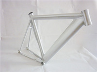 High Quality Polish Silver LB735 530MM Fixie Fixed Gear Track Bike Frame with Free Seatpost Clamp