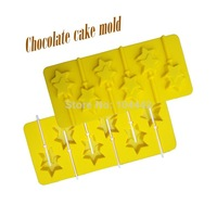 New fashion cake mould Chocolate mold soap tools silicone Pentagram shape cake mould  pudding