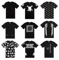 Men's short sleeve T-shirt lovers printing Round collar men's summer trend