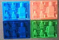 5pcs/lot Minifigure ice mold Robot Ice Mold Silicone Ice Cube  Minifigure ice cube