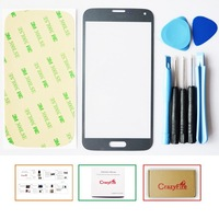 For Samsung Galaxy S5 i9600 G900 Front Galss Lens Gray LCD Touch Screen Glass Digitizer Lens + Tools+ Adhesive Free Shipping