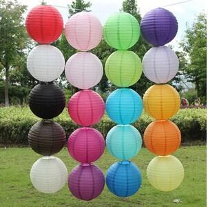 20 colors 12cinch (30cm) chinese round paper lantern wedding decoration(China (Mainland))