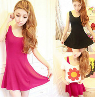 new 2014 Women dress summer casual dresses slim fashion cute cotton vest dress 2 color women clothing F1268